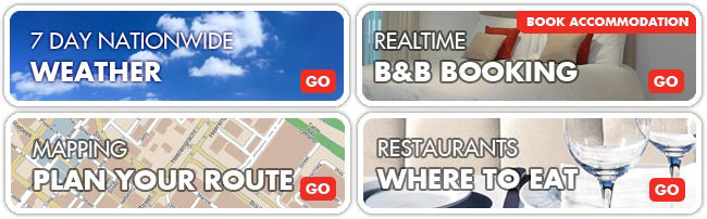 7 Day Weather Forecast, Realtime B&B Booking, Mapping, Restaurants Where To Eat