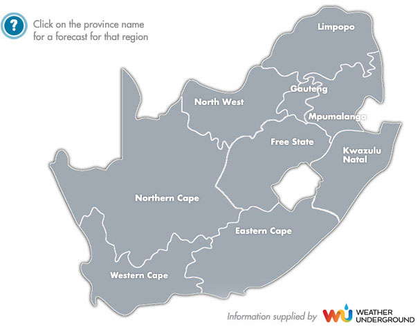 SA Weather Map