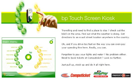 BP Touch Screen Kiosk